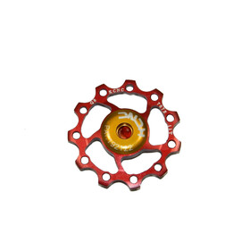 KCNC Jockey Wheel - 12 dents palier SS rouge